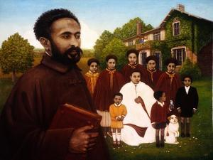 Haile Selassie in Exile, 1987 by Frances Broomfield