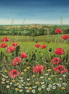 Oxford / Poppies, 1983 by Frances Broomfield