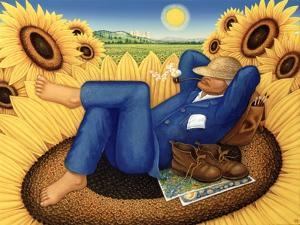 Van Gogh's Sunflowers, 1998 by Frances Broomfield
