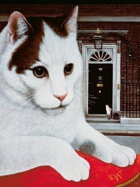 Wilberforce, the Number 10 Cat, 1987 by Frances Broomfield