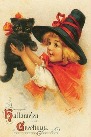 Halloween Greetings by Frances Brundage