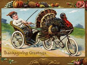 Thanksgiving Greetings by Frances Brundage