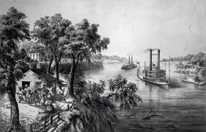Low Water in the Mississippi, Pub. by Currier and Ives, 1867 by Frances Flora Bond Palmer