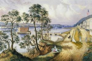 Staten Island and the Narrows from Fort Hamilton, N.Y., C.1861 by Frances Flora Bond Palmer