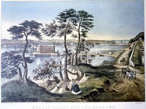 Staten Island and the Narrows, New York, USA, C1834-C1876 by Frances Flora Bond Palmer