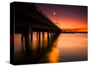 A Drawbridge at Sunset on North Hutchinson Island, Florida by Frances Gallogly