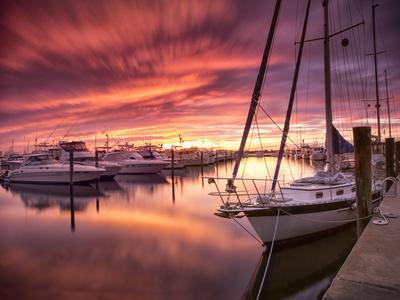 Sunset at Stuart Marina, Florida
