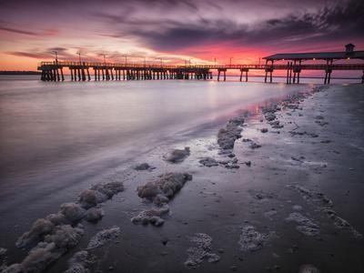Sunset at the Pier on St. Simon Island, Georgia