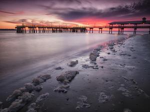 Sunset at the Pier on St. Simon Island, Georgia by Frances Gallogly