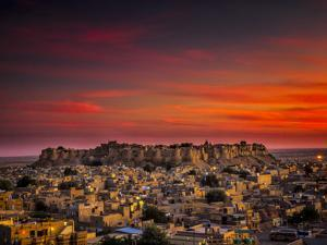 Sunset over the Fort in Jaisalmer, India by Frances Gallogly
