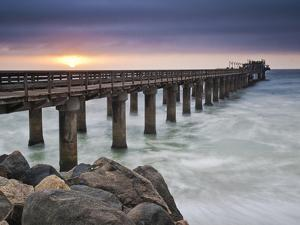 Swakopmund Pier at Sunset, Namibia by Frances Gallogly