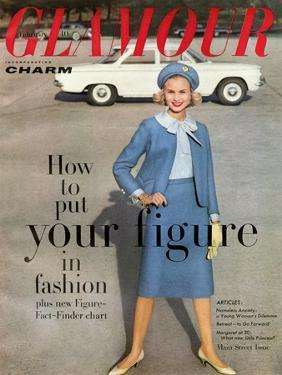 Glamour Cover - February 1960 by Frances Mclaughlin-Gill