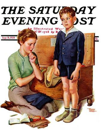 """""""Growing Boy,"""" Saturday Evening Post Cover, September 16, 1939"""