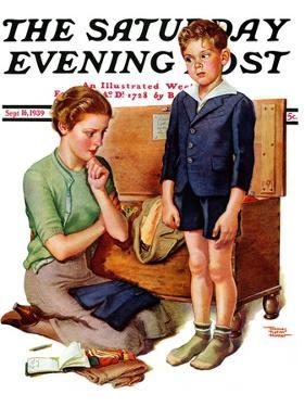 """Growing Boy,"" Saturday Evening Post Cover, September 16, 1939 by Frances Tipton Hunter"