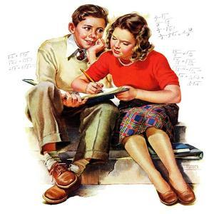 """Helping with Homework,"" May 25, 1940 by Frances Tipton Hunter"