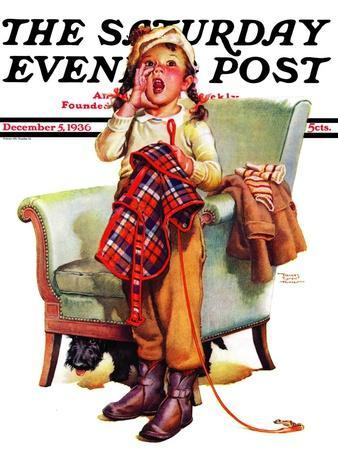 """""""Here Boy!,"""" Saturday Evening Post Cover, December 5, 1936"""