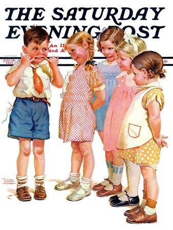 """""""Making Faces,"""" Saturday Evening Post Cover, July 10, 1937"""
