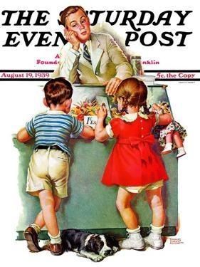 """Penny Candy,"" Saturday Evening Post Cover, August 19, 1939 by Frances Tipton Hunter"