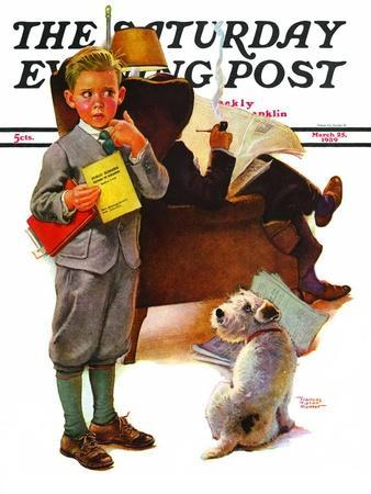 """""""Report Card,"""" Saturday Evening Post Cover, March 25, 1939"""