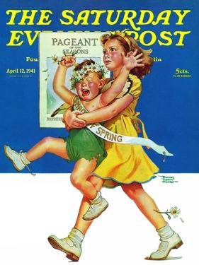"""Spring Pageant,"" Saturday Evening Post Cover, April 12, 1941 by Frances Tipton Hunter"