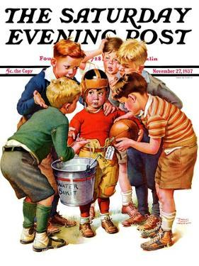 """You Can Be the Water Boy!,"" Saturday Evening Post Cover, November 27, 1937 by Frances Tipton Hunter"