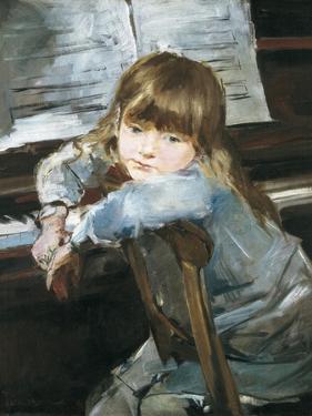 Girl before the Piano by Francesc Torrescassana