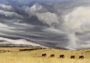 Elephant bulls at Lewa, 2014 by Francesca Sanders