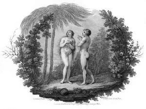 Adam and Eve, 1796 by Francesco Bartolozzi