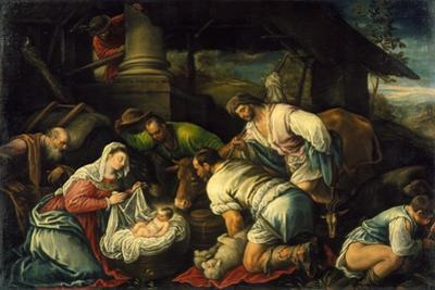 The Adoration of the Shepherds, c.1585-1590 by Francesco Bassano