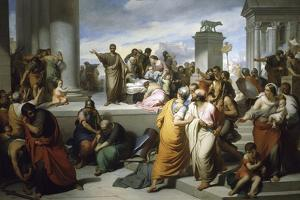 Brutus Displaying Lucretia's Body to People of Rome by Francesco Coghetti