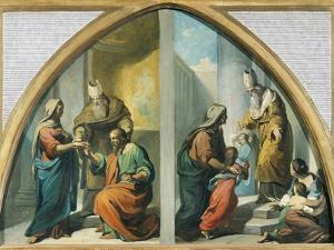 Marriage and Presentation of the Virgin Mary at the Temple, 1857-1860 by Francesco Coghetti