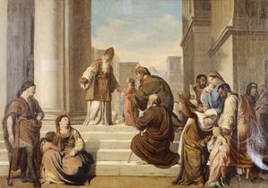 Presentation in Temple by Francesco Coghetti