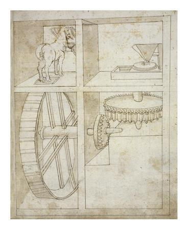 Folio 43: mill powered by horse