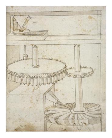 Folio 44: mill powered by horizontal wheel