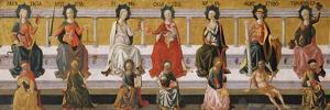 The Seven Virtues, C. 1450 by Francesco Di Stefano Pesellino