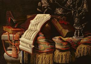 Still Life with a Book of Sheet Music by Francesco Fieravino