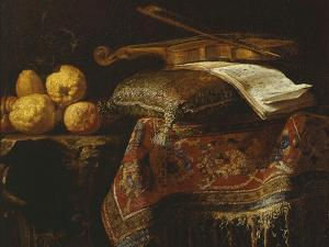Still Life with Citrons and Violin, Undated by Francesco Fieravino