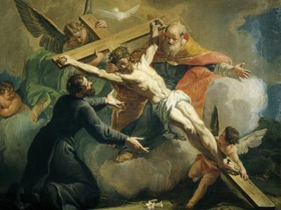 Crucifixion with God the Father and Saint Ignatius of Loyola