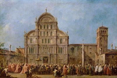 Easter Procession of the Doge of Venice at the Church of San Zaccaria, C.1766-70