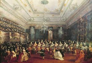 Gala Concert Given in January 1782 in Venice for the Tsarevich Paul of Russia and His Wife by Francesco Guardi