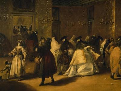 Il Ridotto (Masked Venetians), 1755