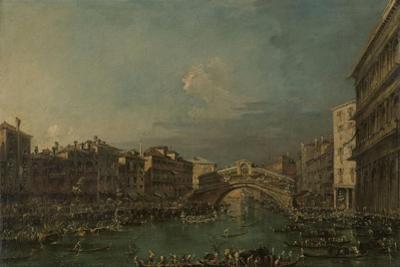 Regatta on the Canale Grande Near the Rialto Bridge in Venice
