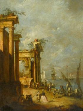 Roman Ruins Near the Lagoon, c.1765-1775 by Francesco Guardi