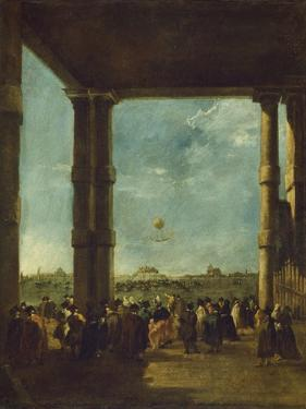 The Balloon Ascent, 1784 by Francesco Guardi