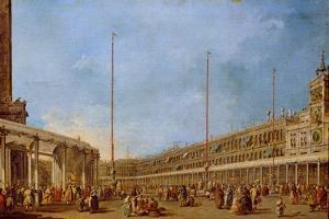 The Procession of the Corpus Domini Through St. Mark's Square, C.1766-70 by Francesco Guardi