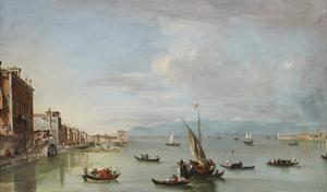 Venice: the Fondamenta Nuove with the Lagoon and the Island of San Michele, C.1758 by Francesco Guardi