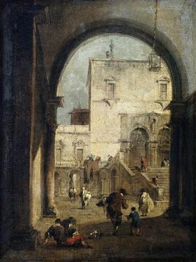 View of a Square and a Palace, Between 1775 and 1780 by Francesco Guardi