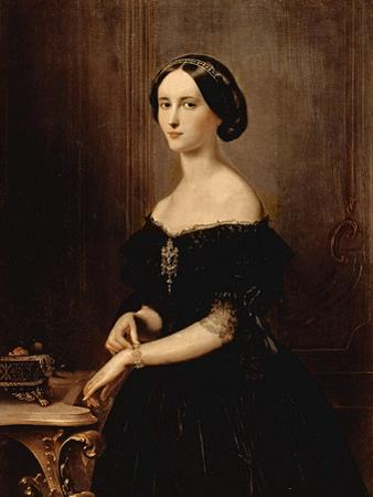 Portrait of a Venetian Woman, C.1852 by Francesco Hayez