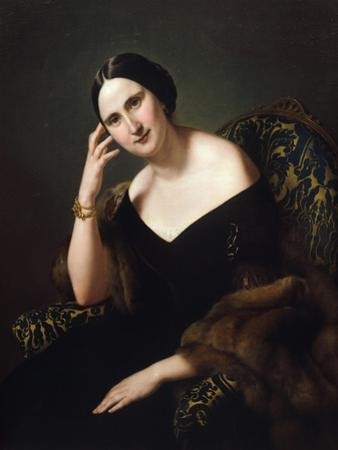 Portrait of Caterina Bonvicini Cardinale by Francesco Hayez