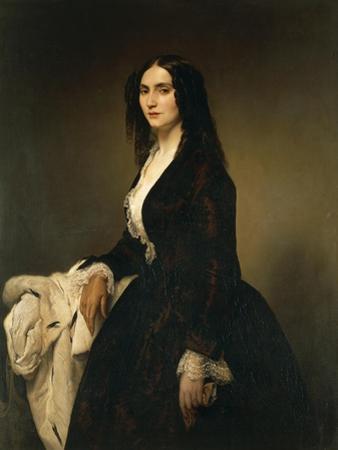 Portrait of Mrs Matilde Juva Branca by Francesco Hayez